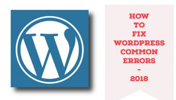 how to fix wordpress common errors