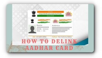 How to delink aadhar card
