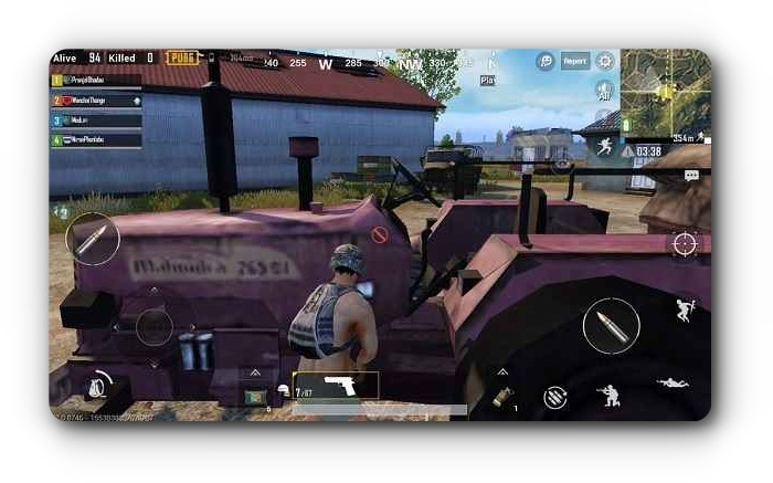 Mahindra tractor in pubg mobile